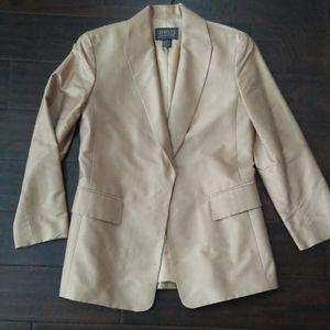 Lafayette 148 New York tan silk blazer